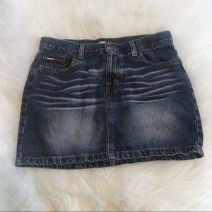 Tommy Hilfiger | Denim Jean Whiskered Mini Skirt 7